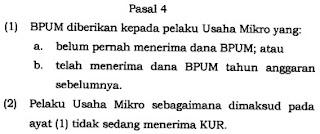 Syarat pendaftaran BLT UMKM 2021