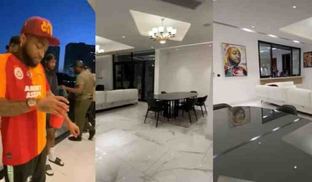 Davido Shows Off Beautiful Interiors Of His New Banana Island Mansion (Video)