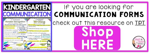 Classroom Management made simple with Kindergarten Parent Communication Forms for Kindergarten Reading Assessment and Kindergarten Math Assessments