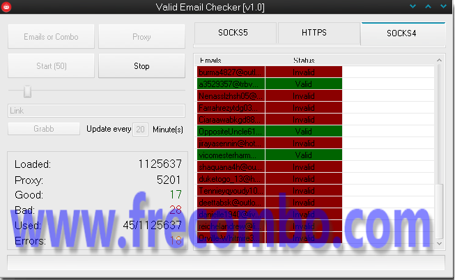 Valid Email Checker [v1.0] – Coded by Mico