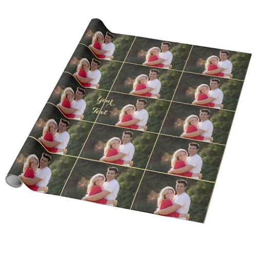 DIY Create Your Own Custom Personalized Photo Text Wrapping Paper