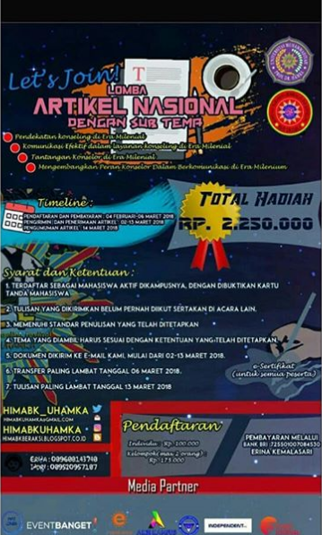Lomba Artikel Nasional 2018 Univ. Muhammadiyah Prof. Dr. HAMKA
