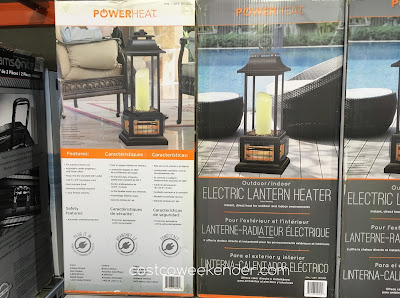 Powerheat Outdoor/Indoor Electric Lantern Heater - Stay warm on your patio or take it indoors for a convenient space heater