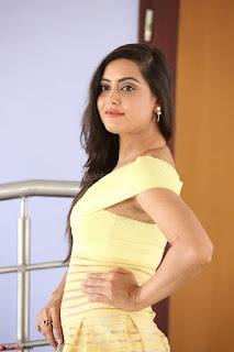 Shipra gaur in V Neck short Yellow Dress ~  045.JPG