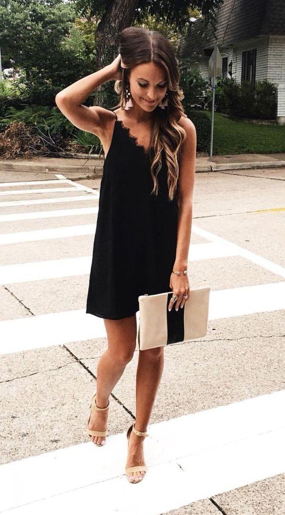 Looks de verão vestido preto