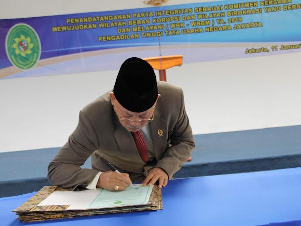 Penandatanganan Pakta Integritas PTTUN Jakarta 2019