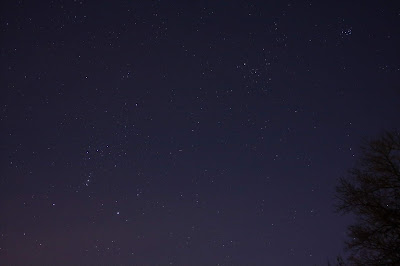 constellation Orion with Pleiades
