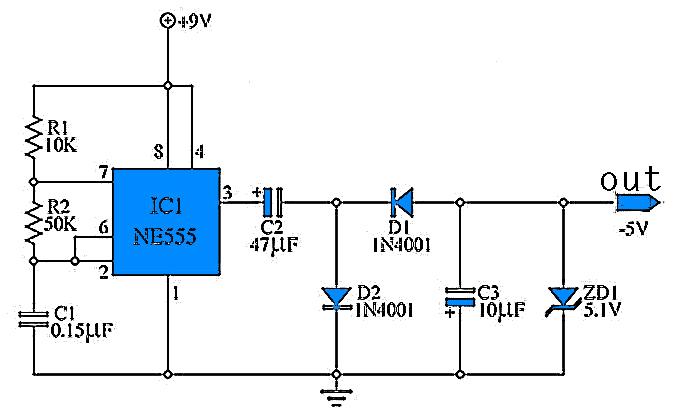 circuit diagram of 9 volt power supply