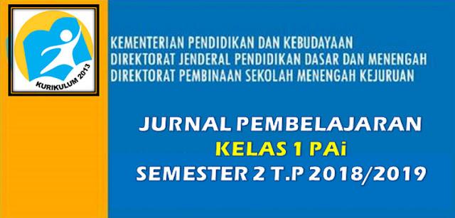 File Unduh Jurnal Kelas 1 PAi dan Budi Pekerti SD/MI Semester 2 K-13
