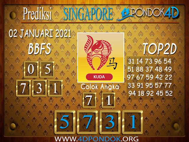 Prediksi Togel SINGAPORE PONDOK4D 02 JANUARI 2021