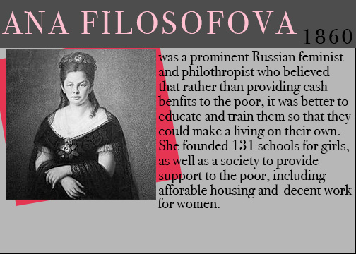 famous feminists, feminists throughout history, women history month, ana filosofova