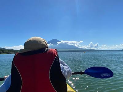 山中湖でパックラフト