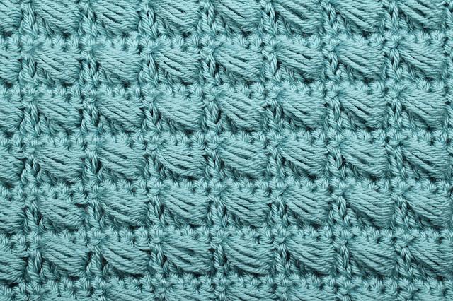 1 - Crochet Imagen Puntada conbinada con punto puff 2 a crochet y ganchillo por Majovel Crochet