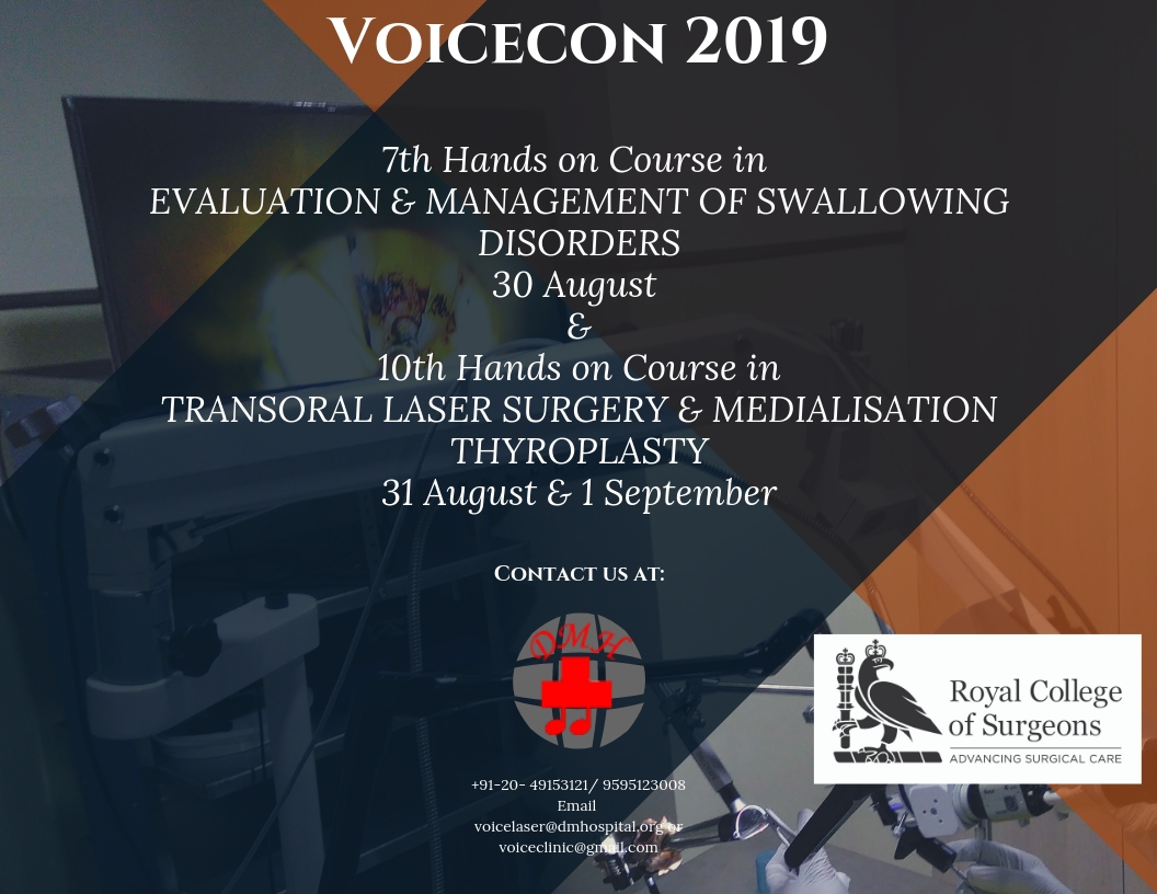Otolaryngology Update: VOICECON 2019 , 30-31 August & 1 September