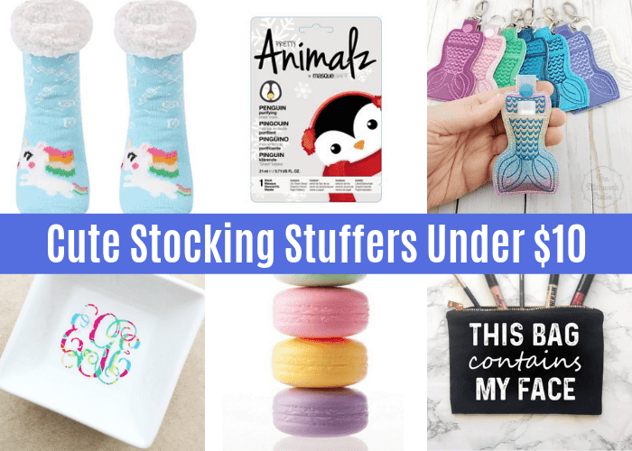 Need stocking stuffer ideas?  These Christmas stocking stuffers for her are sure to be a hit.  These awesome stocking stuffers are things she will love to get.  These cheap stocking stuffers are all under $10.  If you need easy stocking stuffers for her, this is your list of cute and clever stocking stuffers.  She will love this list of 15 of the best stocking stuffers.  #christmas #stockingstuffer #stocking #stuffer #cheap #under10 #under$10 #forher #ladiesstockingstuffer