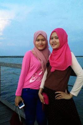 cewek Igo kembar dan manis cewek manis main hijab
