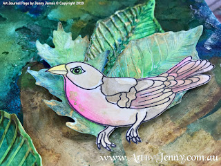 bird close up mixed media artwork featuring Mother Nature and the Earth created by Jenny James