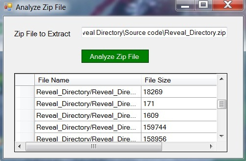 Create, Analyze and Manipulate Zip Files in C# Dot Net