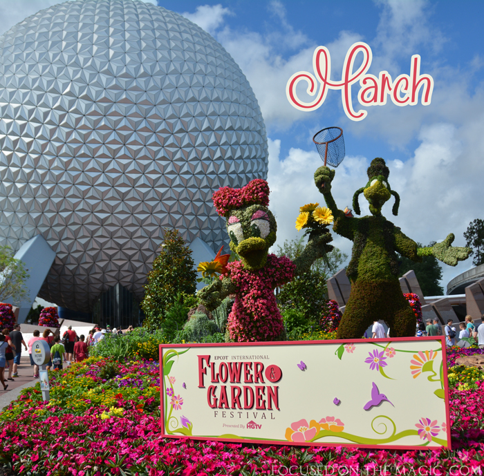 Epcot International Flower and Garden Festival opens today, March 1.