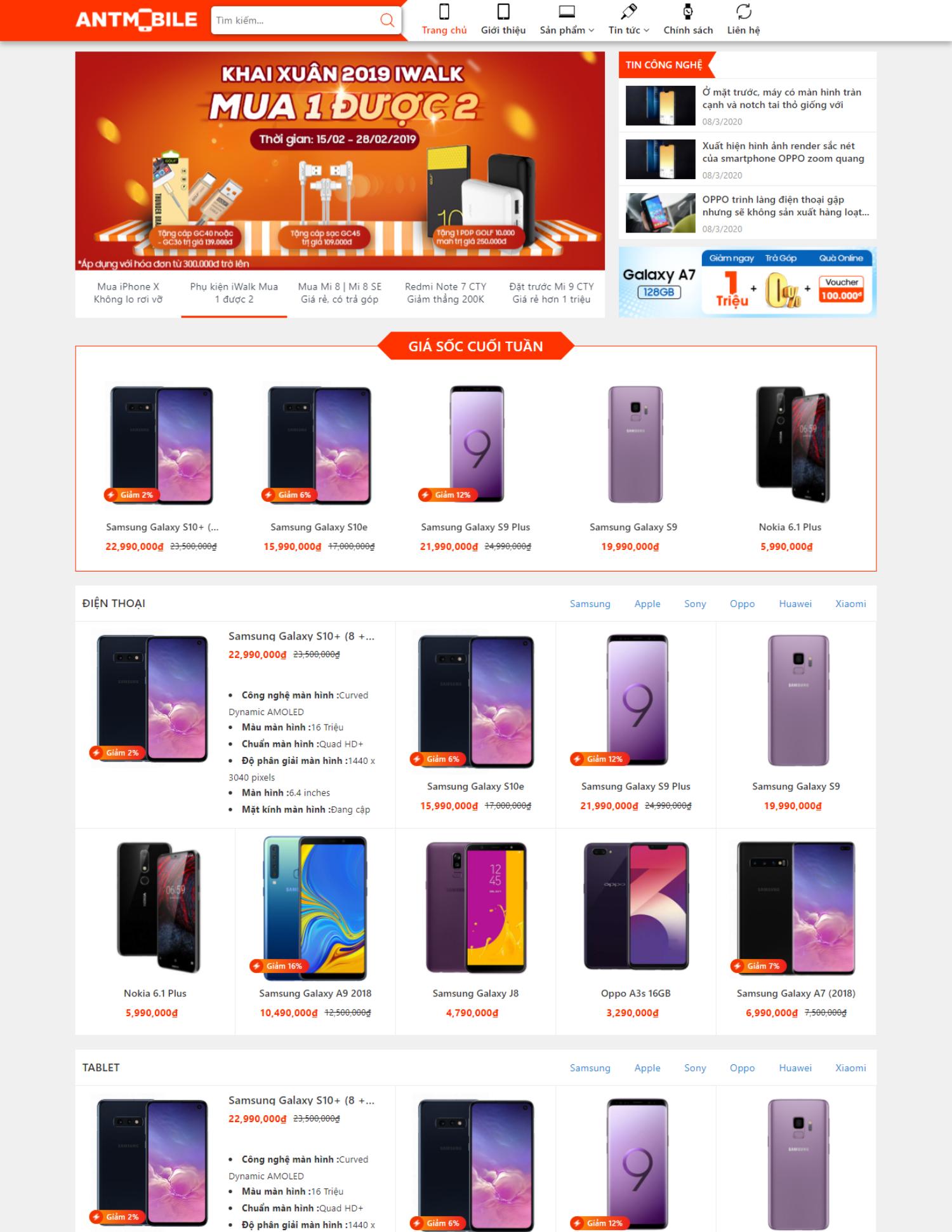 Theme blogspot bán điện thoại, máy tính (VSM77)