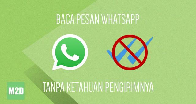 membaca pesan WhatsApp tanpa ketahuan pengirimnya