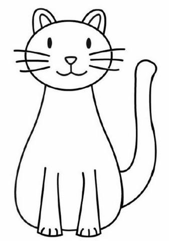 Gambar Kehidupan Contoh Gambar Kucing Yang Mudah Digambar