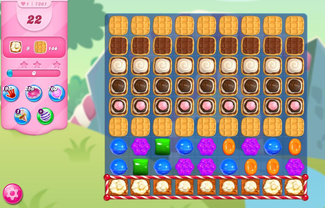 Candy Crush Saga level 7261