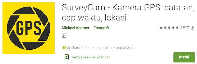 surveycam foto ada tanggal waktu dan lokasi