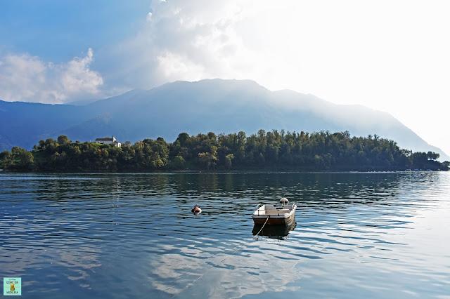 Isola Comacina en Lago di Como, Italia