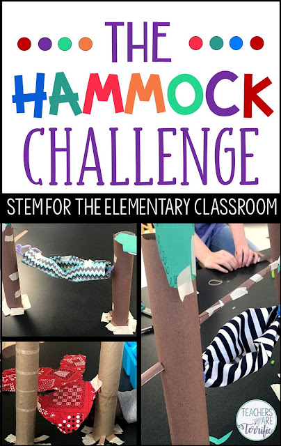 Here's another fantastic real-life STEM challenge featuring a Hammock! Students must build a model of a hammock. There are two versions of this challenge provided. Both are challenging and full of problem-solving! Check this blog post for more!
