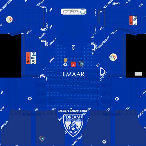 Al hilal Fc kits 2019-2020 (Saudi Arabia) Nike in Kit Dream League Soccer 2019 (Home)