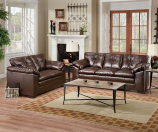 simmons coffee flexsteel leather sofas set - Flexsteel Sofas