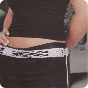 Cinturon lila a Crochet