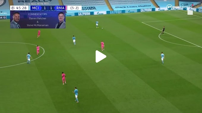 VIDEO: Manchester City 2:1 Real Madrid / Champions Laegue