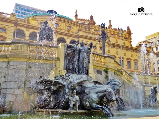 Fotocomposição com a Fonte Glória, Ordem e Progresso - República - São Paulo