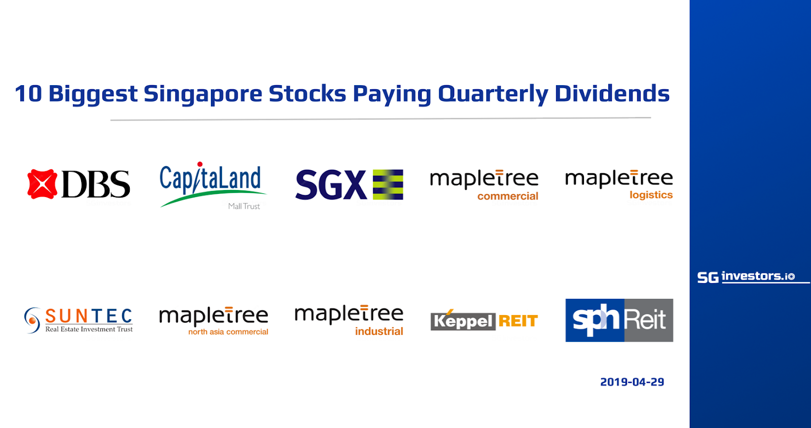 10 Biggest Singapore Stocks Paying Quarterly Dividends Sgx My Gateway