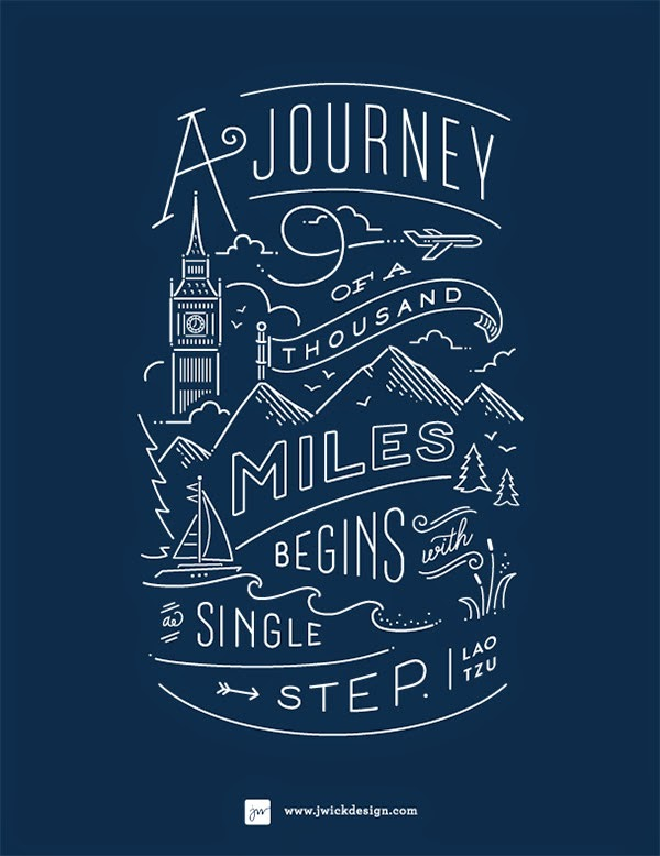 Inspirasi Desain Line Art - THE JOURNEY BY JENNIFER WICK