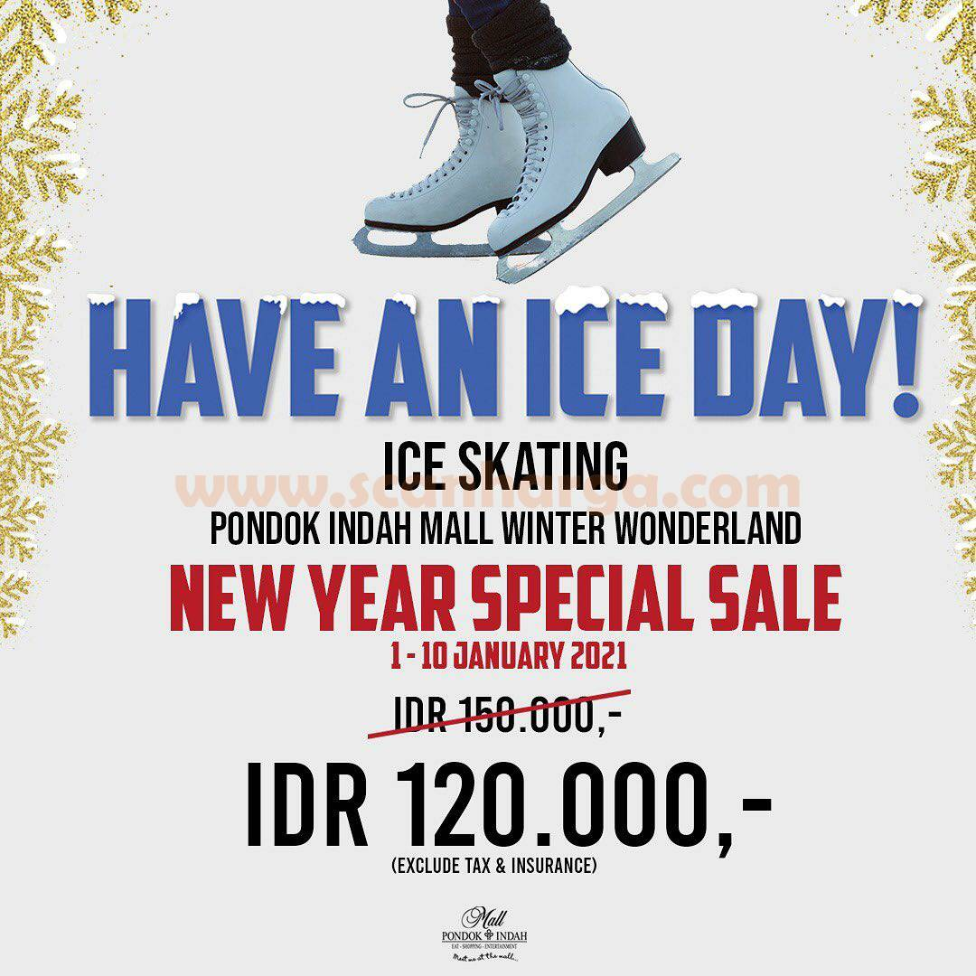 Promo Ice Skating NEW YEAR SPECIAL SALE on Winter Wonderland Pondok Indah Mall!