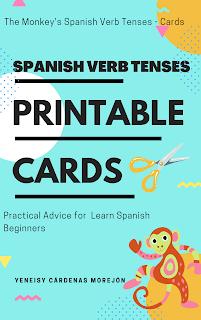 Spanish verb tenses printable cards