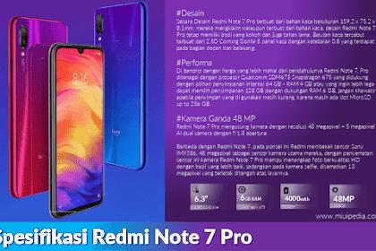 Review Spesifikasi dan Harga Redmi Note 7 Pro, ini Kelebihannya