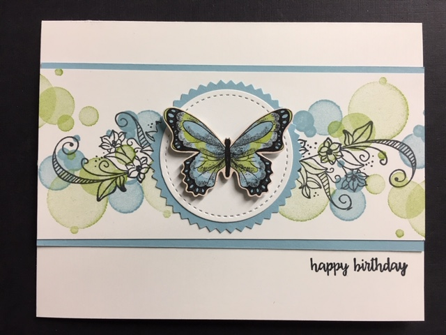 Beauty Abounds Happy Birthday Gorgeous Botanical Butterfly DSP Card