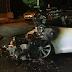 Вночі на вулиці Юності, 8/2 горів електромобіль «Tesla Model S», що належить екс-голові офісу Президента Андрію Богдану