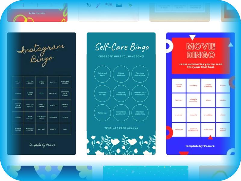 Cara Membuat Template Bingo Instagram Sendiri - Dardura