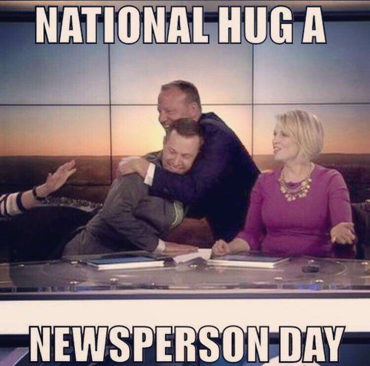 National Hug a Newsperson Day Wishes