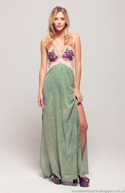 Vestidos 2015 moda Silvina Ledesma Argentina.