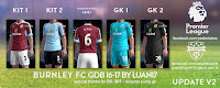 Burnley FC Puma Kits 2016-2017 Update v2 Pes 2013