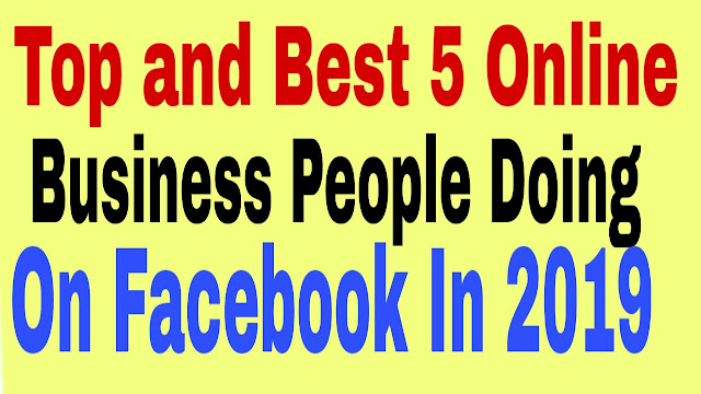 Top 5 online businesses on Facebook