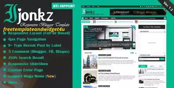 Ijonkz Blogger Template Free Download Paid Version