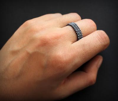 купить кольцо женские на мизинец в интернете бижутерия из бисера
