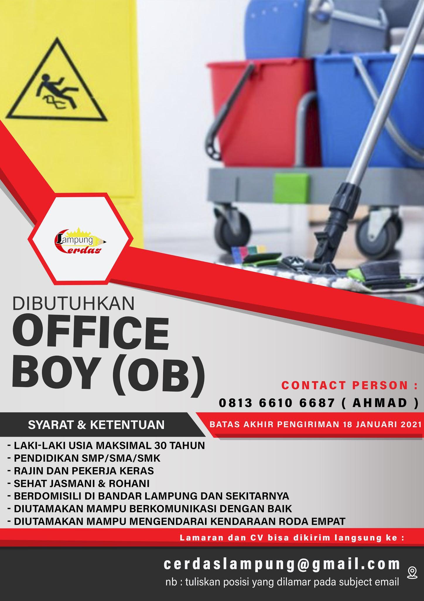 Lowongan Kerja Office Boy Cleaning Service Di Lampung Mei 2021